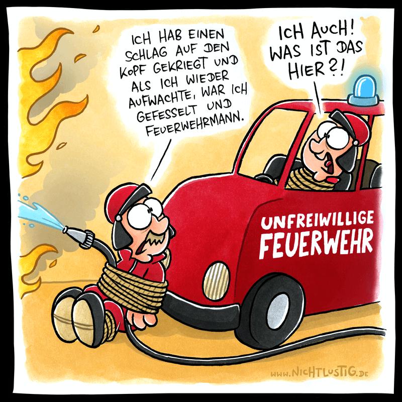NICHTLUSTIG-Cartoon: FEUERWEHR