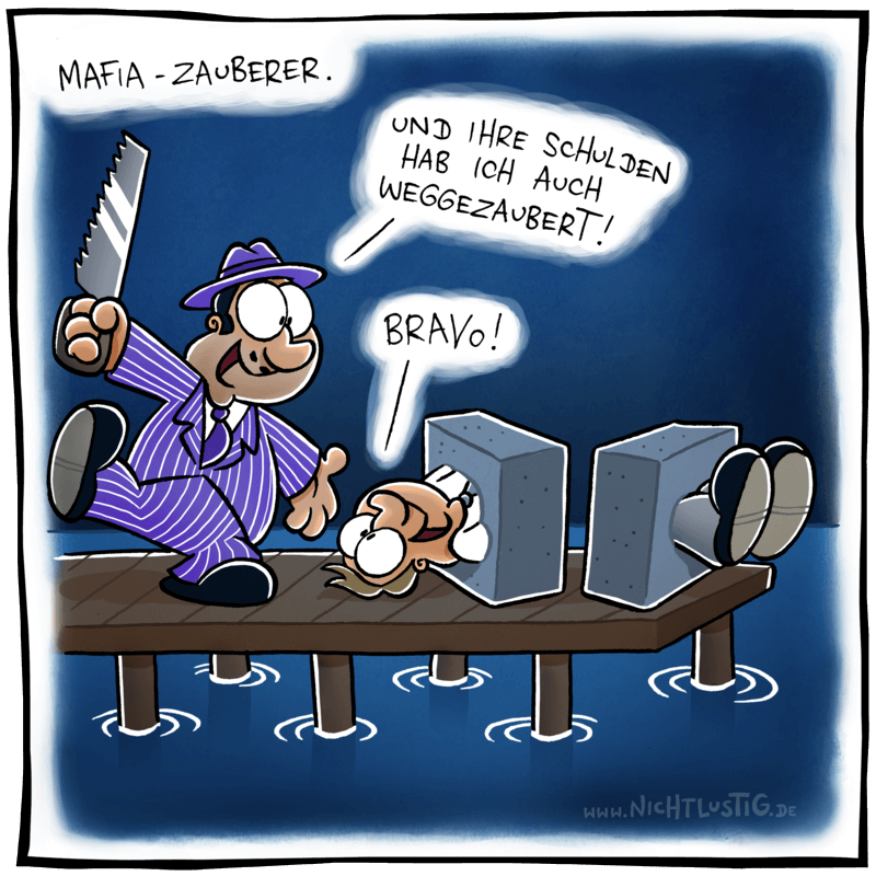 Cartoon Nicht Lustig